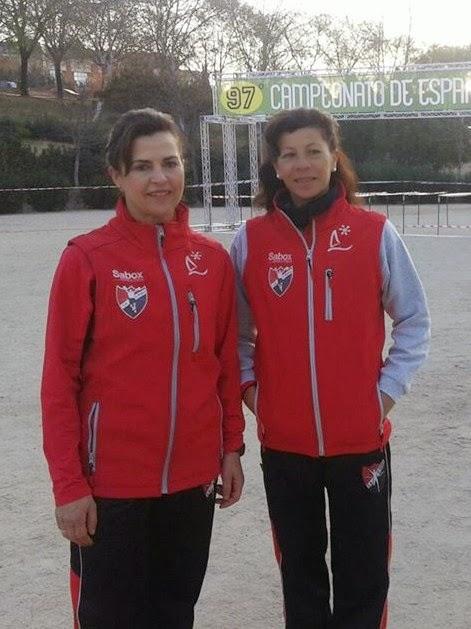 Antonia García 8ª y Paz Gonozález 9ª