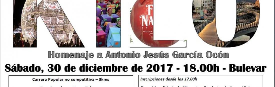 La Carrera de Kilo homenajeará a Antonio Jesús García Ocón