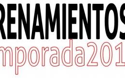 Entrenamientos  para la Temporada 2017-2018